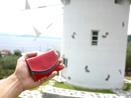 小豆島旅行で風車と小さい財布