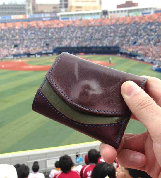 小さい財布と野球観戦